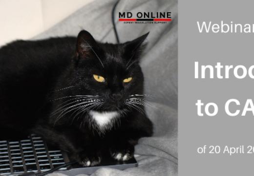 """Podsumowanie webinaru """"Wprowadzenie do narzędzi CAT"""" z 20.04.2020"""